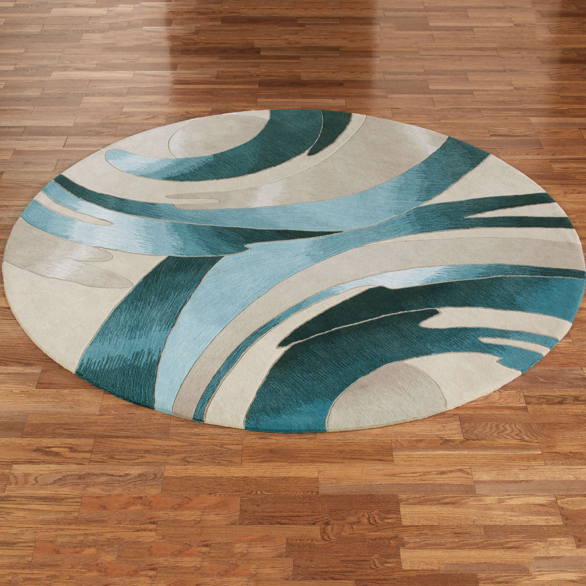 Area Rugs Round Rugs Touch Of Class Pertaining To Circular Green Rugs (Image 2 of 15)