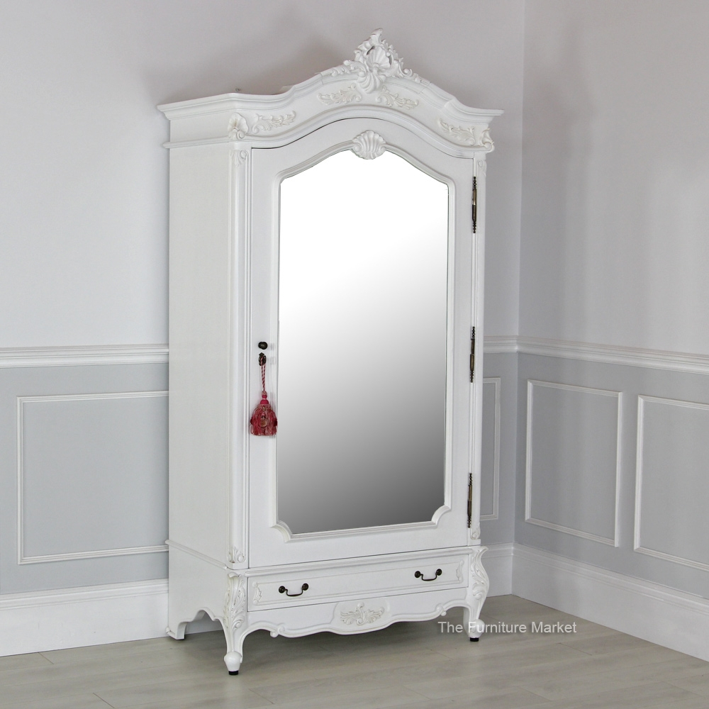 Armoire Extraordinary Mirrored Armoire Wardrobe Design Wardrobe Within White Wardrobe Armoire (Image 3 of 25)