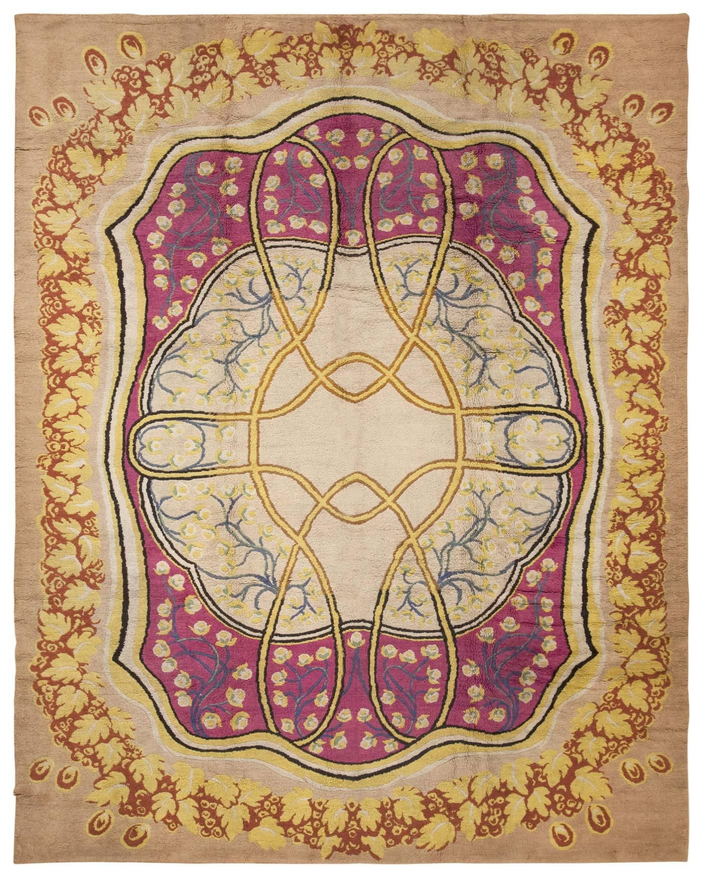 Art Nouveau Rug 45624 Nazmiyal Within European Rugs (View 7 of 15)