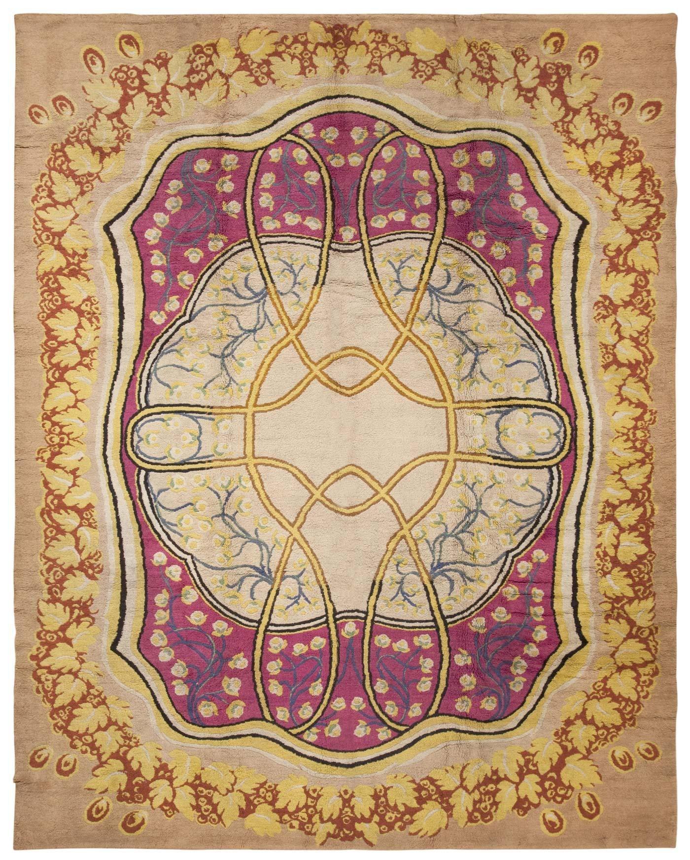Art Nouveau Rug 45624 Nazmiyal Within European Rugs (Image 6 of 15)