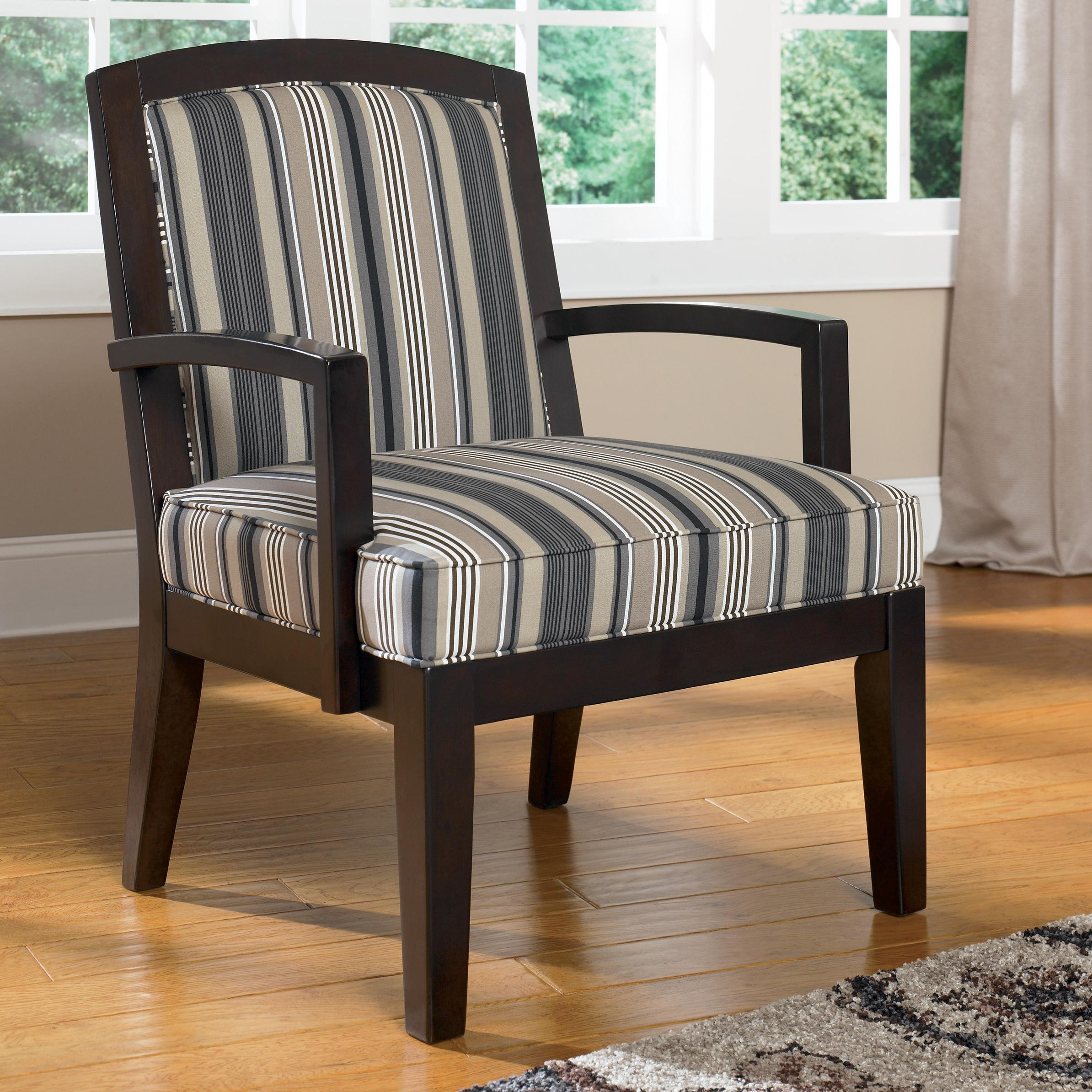 Ashley Furniture Yvette Steel Showood Accent Chair W Wood Frame Throughout Accent Sofa Chairs (View 7 of 15)