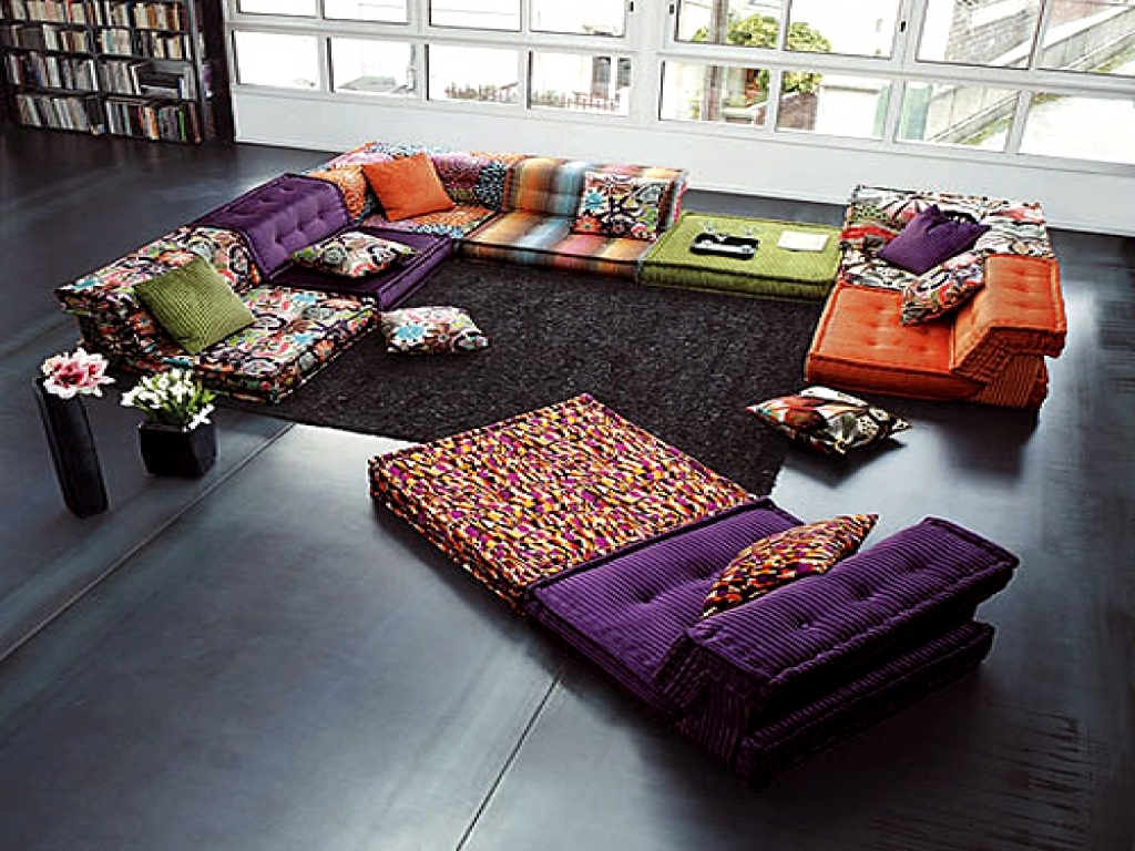 Astounding Floor Cushion Sofa Pictures Ideas Andrea Outloud Within Moroccan Floor Seating (Image 2 of 15)