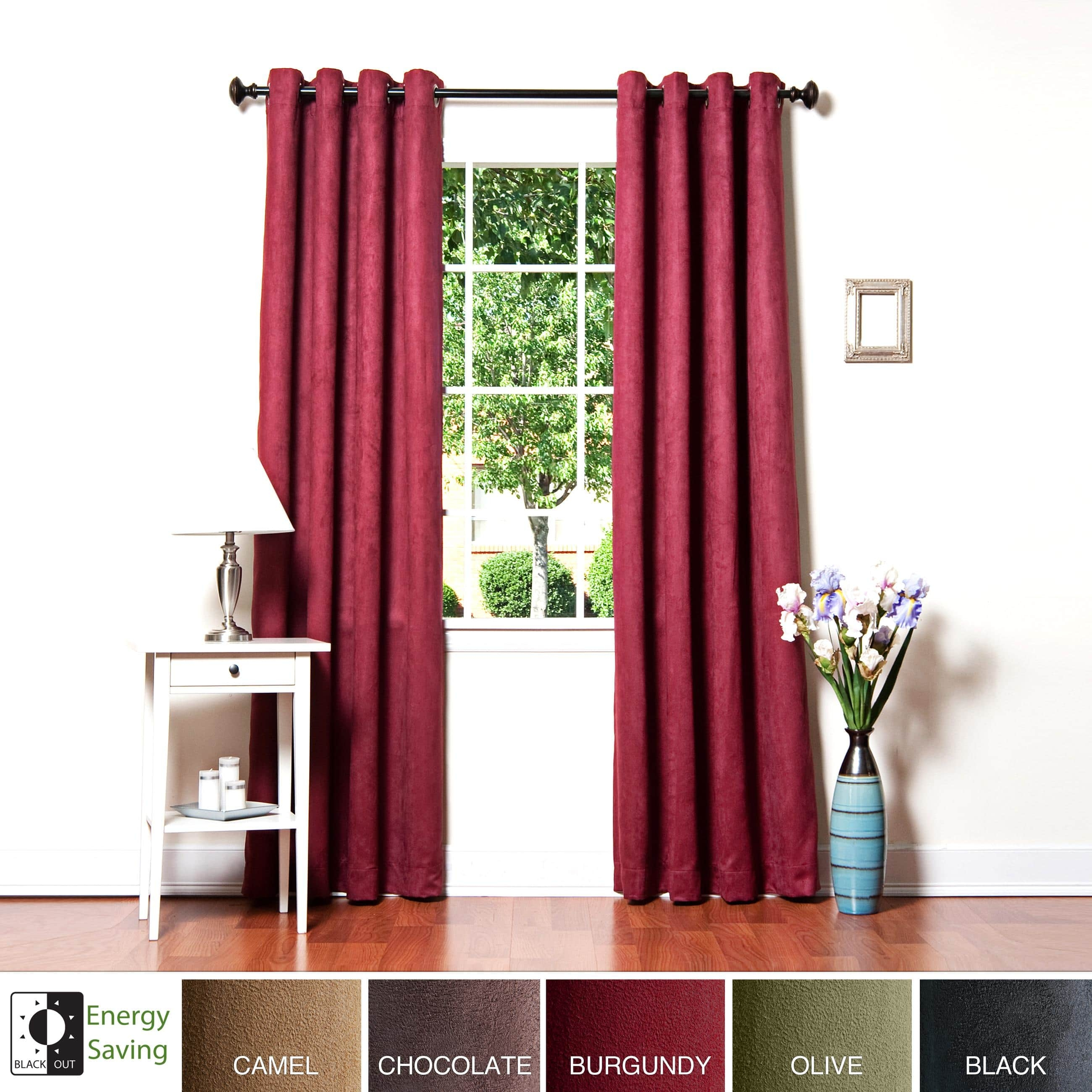 Aurora Home Faux Suede Grommet 95 Inch Insulated Blackout Curtain For Faux Suede Curtain Panels (Image 3 of 25)