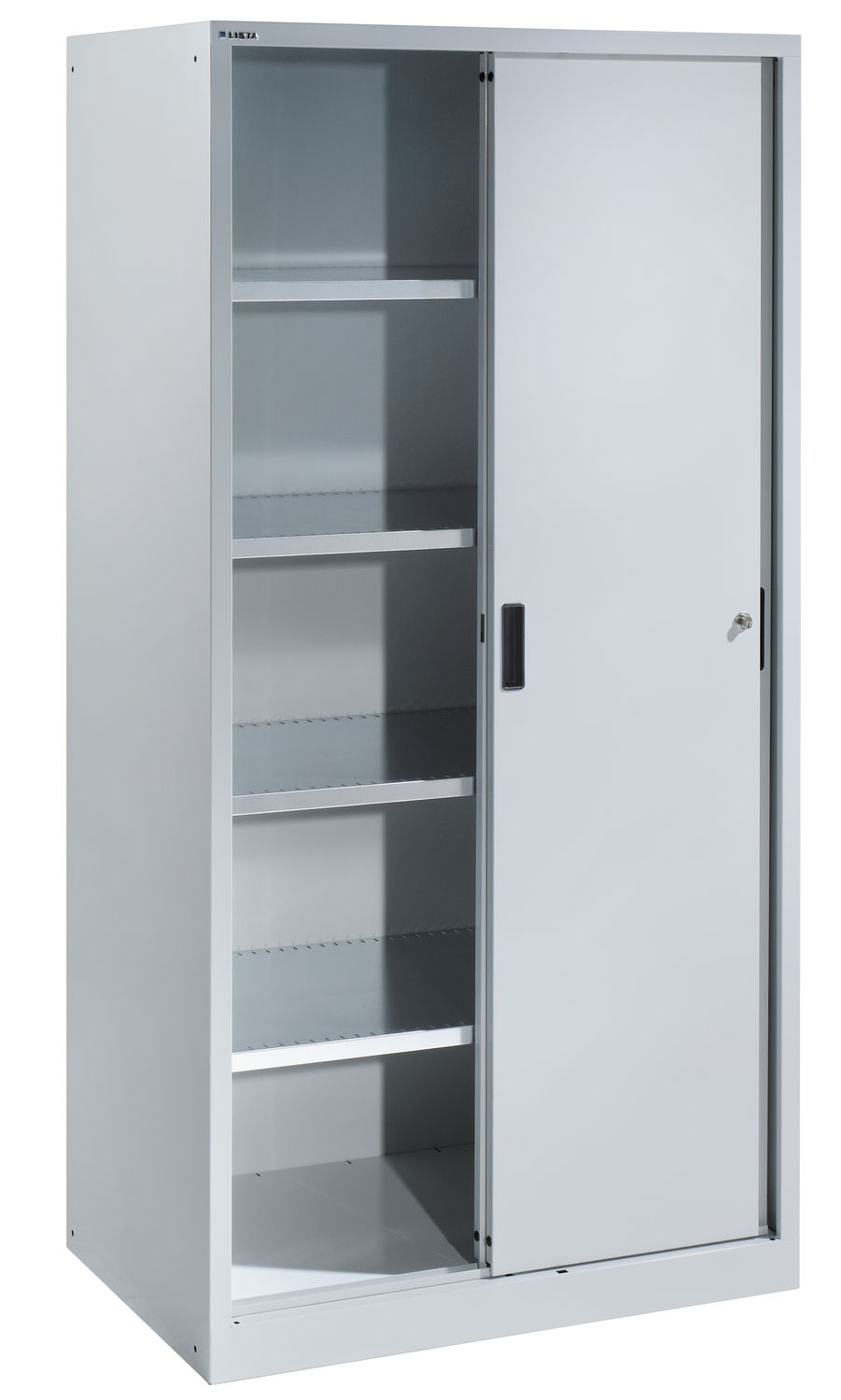 Awe Inspiring Storage Cabinets With Doors Also Adjustable Metal With Large Cupboard With Shelves (Image 4 of 25)