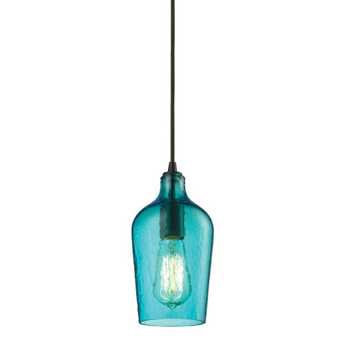 Awesome Best Aqua Pendant Light Fixtures With Regard To Aqua Glass Pendant Lighting Bellacor (Image 1 of 25)