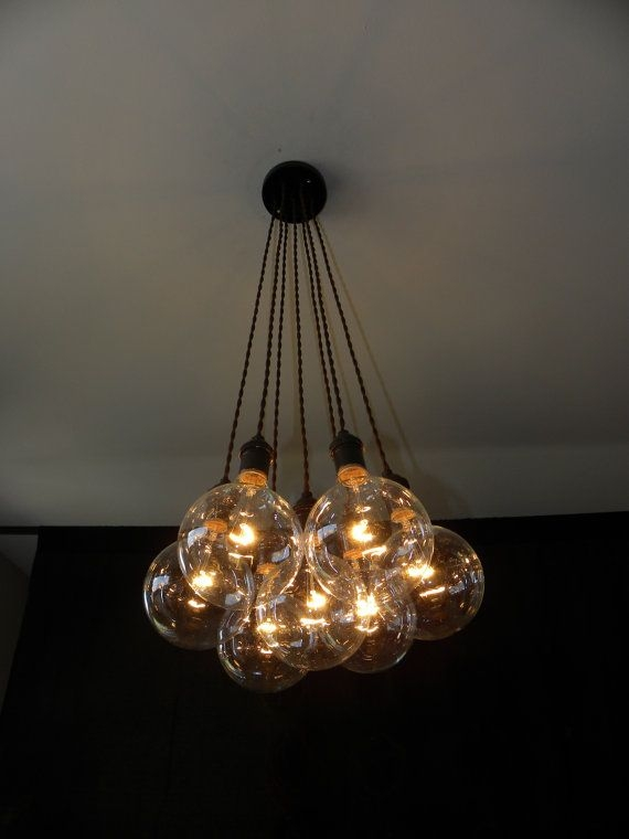 Awesome Best Cluster Glass Pendant Light Fixtures With Mod Blown Glass Cluster Chandelier Custom Pendant Lighting (Image 3 of 25)