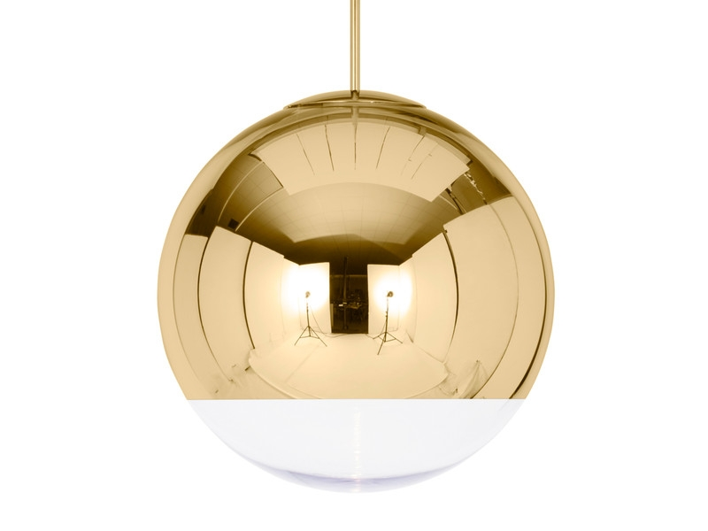 Awesome Best Disco Ball Pendant Lights Intended For Buy The Tom Dixon Mirror Ball Pendant Light Gold At Nestcouk (Image 4 of 25)