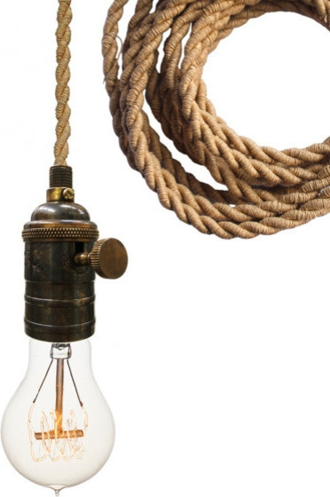 Awesome Best Industrial Bare Bulb Pendant Lights Regarding Nautical Ship Rope Bare Bulb Pendant Light Industrial Pendant (Image 3 of 25)