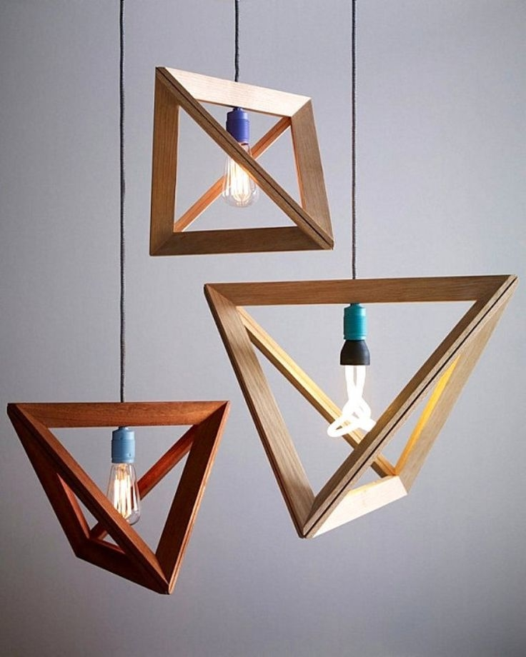 Awesome Brand New Wooden Pendant Lights Throughout Best 25 Geometric Pendant Light Ideas On Pinterest Designer (Image 1 of 25)