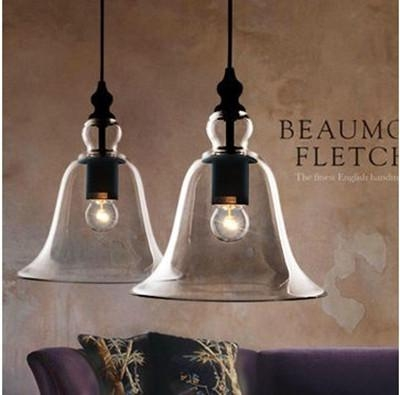 Awesome Deluxe Glass Shades For Pendant Lights Intended For New Antique Vintage Style Glass Shade Ceiling Light Bell Pendant (Image 4 of 25)