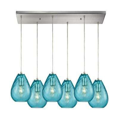 Awesome Elite Aqua Pendant Light Fixtures With Regard To Teal Pendant Lights Hanging Lights The Home Depot (Image 2 of 25)