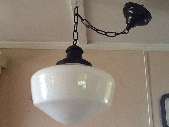 Awesome Famous Milk Glass Pendant Light Fixtures Regarding 29 Best Vintage Lights Images On Pinterest (Image 3 of 25)