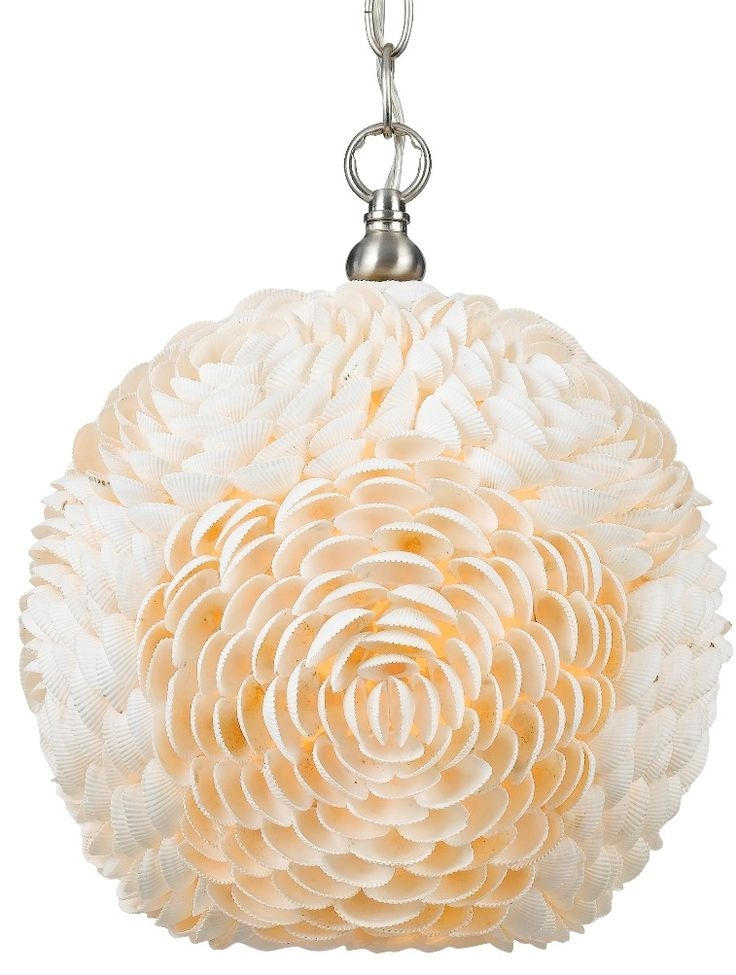 Awesome Fashionable Shell Light Shades Pendants For 26 Best Swag Lamps Images On Pinterest (View 25 of 25)