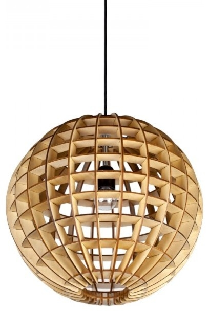 Awesome Favorite Ball Pendant Lighting Pertaining To Wooden Globe Ball Home Pendant Lamp Contemporary Pendant (Photo 8 of 25)