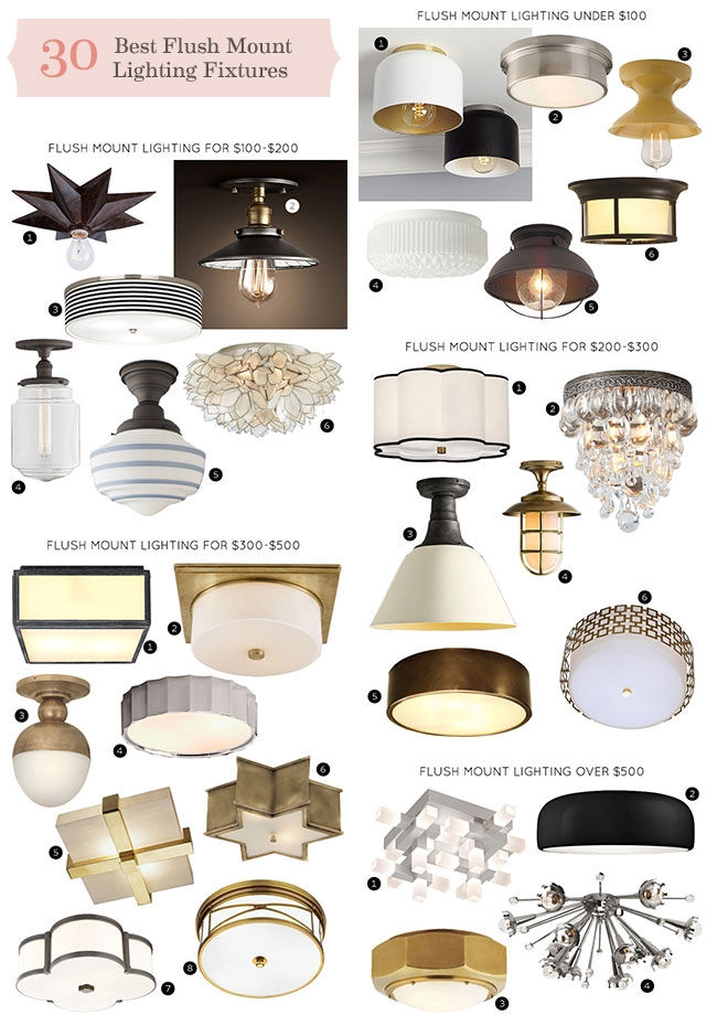 Awesome Favorite Cb2 Light Fixtures Inside The 30 Best Flush Mount Lighting Fixtures Making It Lovely (Image 3 of 25)
