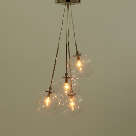Awesome High Quality Cluster Glass Pendant Light Fixtures Regarding Cluster Glass Pendant West Elm (Image 4 of 25)