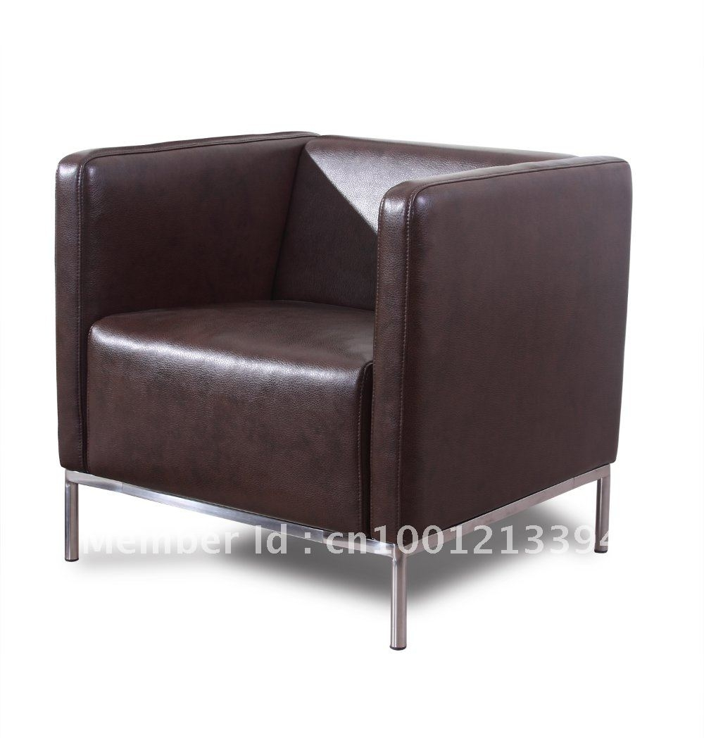 Awesome Leather Sofa Single Pictures Home Design Ideas Elfclan With Regard To Single Seat Sofa Chairs (Image 4 of 15)