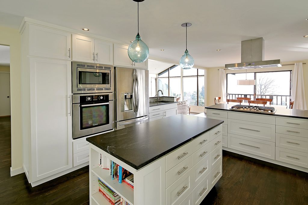 Awesome New Glass Jug Pendants Intended For Kitchen With Soapstone Counters Thomas Fragnoli Zillow Digs (Image 5 of 25)