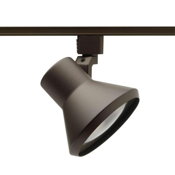 Awesome New Juno Track Lighting Pendants Regarding Juno 75 Watt Flare Bronze Track Lighting Head R552 Bz The Home Depot (Image 2 of 25)