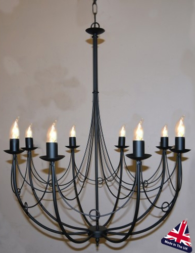 Awesome New Wrought Iron Light Fittings Regarding Deauville Wrought Iron 8 Light Bird Cage Chandelier 1066 (View 17 of 25)