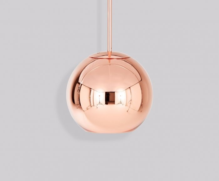 Awesome Popular Copper Pendant Lights Pertaining To Copper Round 25cm Pendant Pendant Lights Tom Dixon (Image 2 of 25)