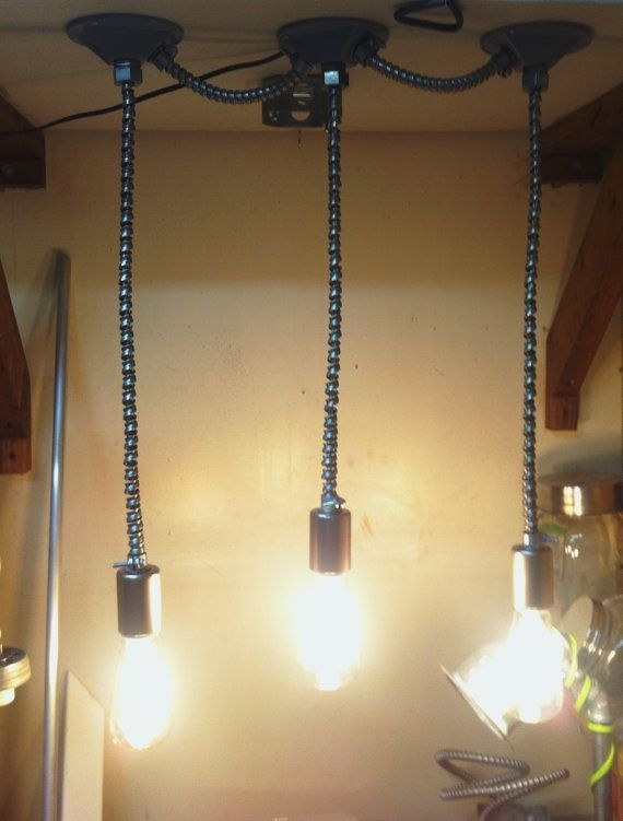 Awesome Popular Exposed Bulb Pendant Track Lighting Inside 40 Best Conduit Lights Images On Pinterest (View 17 of 25)