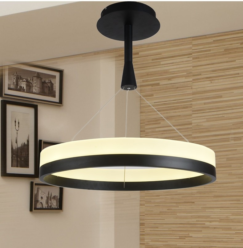 Awesome Popular Remote Control Pendant Lights In Aliexpress Buy New Led Acrylic Chandelier Fixture Black (Image 5 of 25)