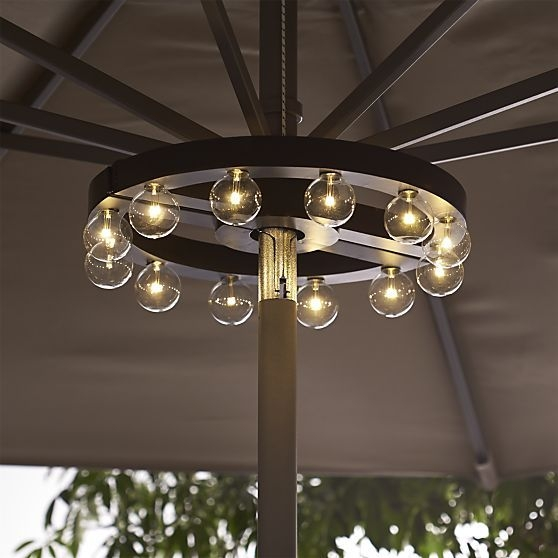 Awesome Preferred Crate & Barrel Lighting Regarding Best 10 Patio Umbrella Lights Ideas On Pinterest Deck Umbrella (Image 4 of 25)