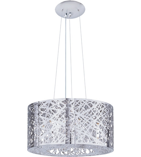 Awesome Preferred Inca 9 Light Pendants Within Et2 E21308 10pc Inca 9 Light 24 Inch Polished Chrome Pendant (Image 5 of 25)