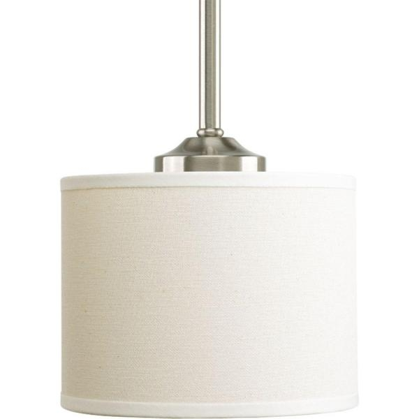 Awesome Premium Pendant Lighting Brushed Nickel Throughout Progress Lighting Inspire Collection 1 Light Brushed Nickel Mini (Image 4 of 25)