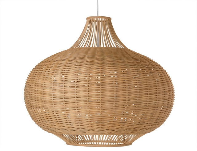 Awesome Premium Rattan Pendant Light Fixtures For Wicker Pear Shaped Pendant Lamp Extra Large Tropical Pendant (Image 4 of 25)