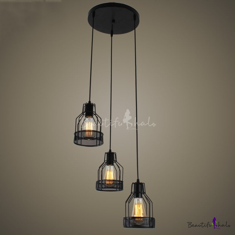 Awesome Series Of 3 Light Pendants In Fashion Style Multi Light Pendants 3 Industrial Lighting (Image 4 of 25)