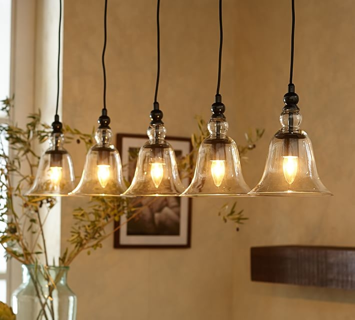 Awesome Series Of Barn Pendant Light Fixtures Inside Rustic Glass 5 Light Pendant Pottery Barn (Image 4 of 25)