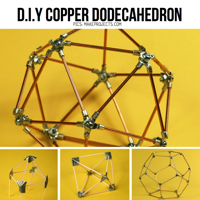 Awesome Top Dodecahedron Pendant Lights Pertaining To Copper Tube Diy Inspiration Tutorials (Image 6 of 25)