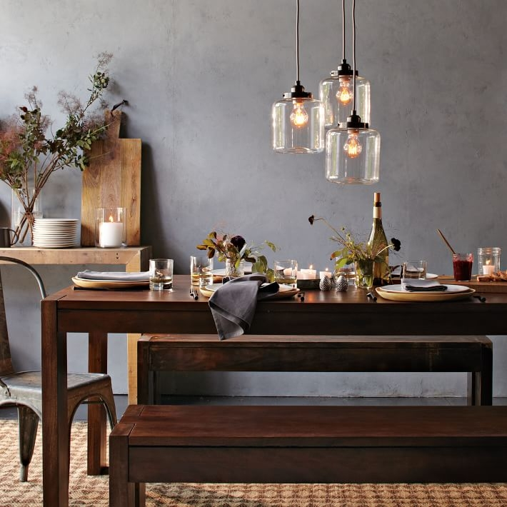 Awesome Top Paxton Glass 3light Pendants With Regard To 3 Jar Glass Chandelier West Elm (Image 1 of 25)