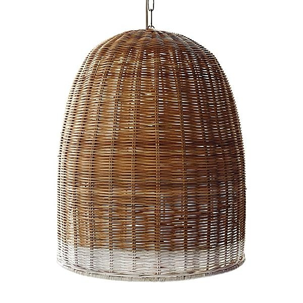 Awesome Top Rattan Pendant Light Fixtures With Highlow A Trio Of Woven Wicker Pendant Lights Pendant Lighting (Image 6 of 25)