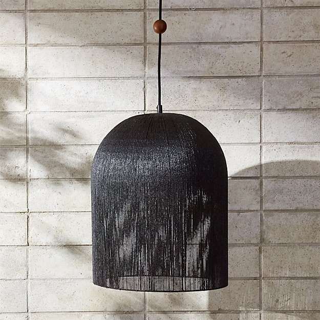 Awesome Trendy Cb2 Pendant Lights Intended For Love One Another Black Iron Pendant Light Cb (Image 4 of 25)