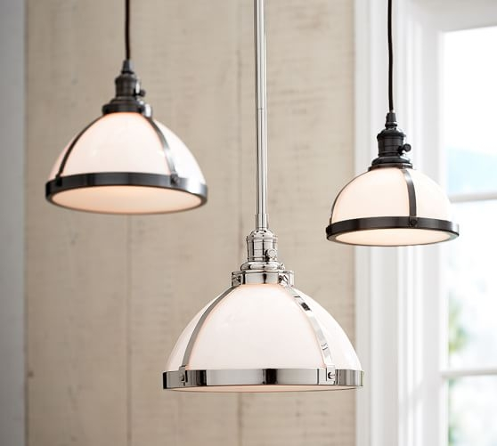 Awesome Trendy Milk Glass Pendants In Pb Classic Pendant Milk Glass Pottery Barn (Image 5 of 25)