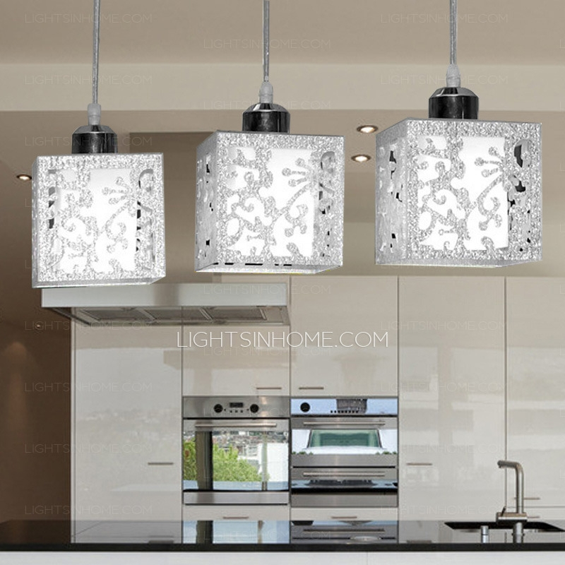 Awesome Trendy Stainless Steel Pendant Lights With Regard To 3 Light Rectangular Type Glass Shade Stainless Steel Pendant Lights (Image 2 of 25)