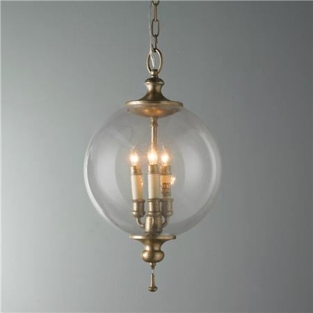 Awesome Unique Latest Pendant Lights With Latest Glass Globe Pendant Light Globe Pendant Clear West Elm (View 6 of 25)
