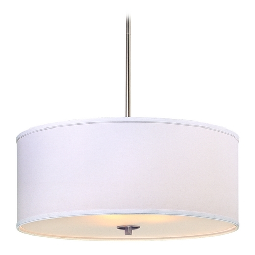 Awesome Unique Oversized Drum Pendant Lights Regarding Large Modern Drum Pendant Light With White Shade Dcl 6528  (Image 10 of 25)