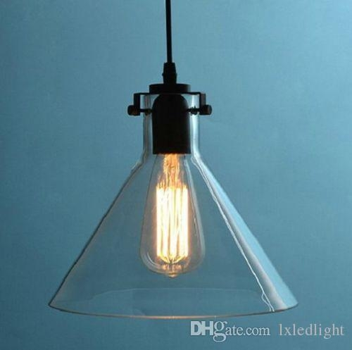 Awesome Unique Pendant Light Edison Bulb Intended For Vvintage Retro Big Diy Ceiling Lamp Light Glass Pendant Lighting (Image 8 of 25)