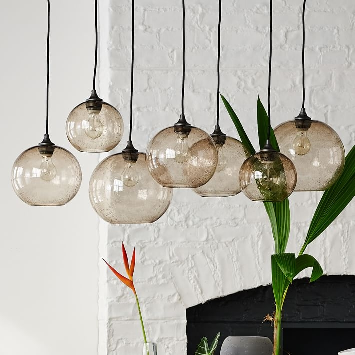 Awesome Variety Of West Elm Cluster Pendants Throughout Glass Orb Chandelier Luster West Elm (Image 5 of 25)