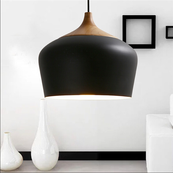 Awesome Variety Of Wooden Pendant Lights For Sale For Modern Pendant Lights Wood And Aluminum Pendant Lamp Black White (Image 6 of 25)