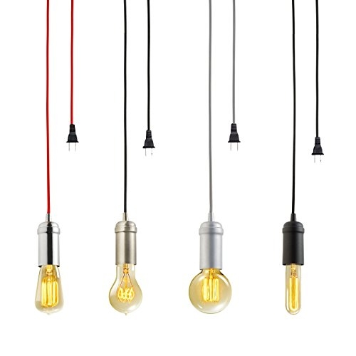 Awesome Well Known Plug In Pendant Light Kits Intended For Amazon Globe Electric Vintage Edison 1 Light Plug In Mini (Image 5 of 25)