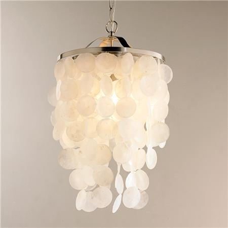 Awesome Well Known Shell Light Shades Intended For Modern Capiz Shell Medium Chandelier Shells Of And Shades (View 4 of 25)