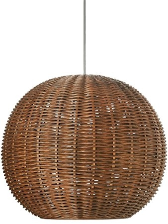 Awesome Wellliked Ball Pendant Lighting For Kouboo Wicker Ball Pendant Light Rustic Brown Amazon (Image 6 of 25)