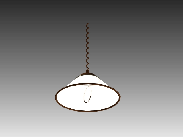 Awesome Wellliked Pull Down Pendant Lights Intended For Pull Down Pendant Light 3d Model 3d Studio3ds Maxautocad Drawing (View 7 of 25)