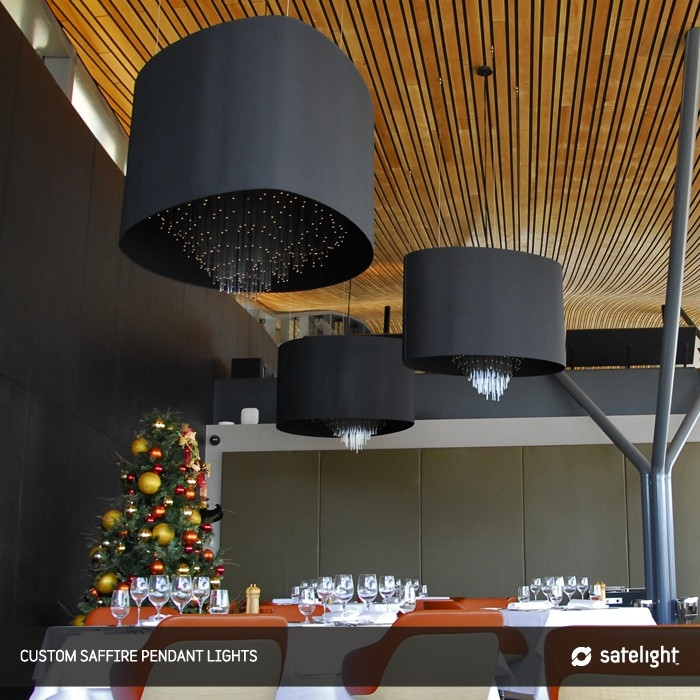 Awesome Wellliked Restaurant Pendant Lights In Satelight Saffire Restaurant Pendant Lights Minimum Order (Image 3 of 25)