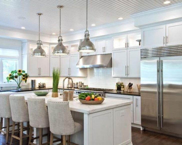 Awesome Wellliked Stainless Steel Pendant Lights For Kitchen Inside Kitchen Wonderful Kitchen Island Lighting Pendants Kitchen (Image 7 of 25)